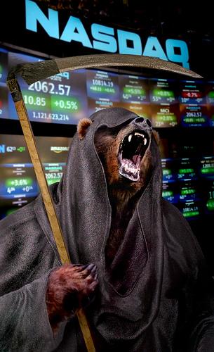 stock market crash photo